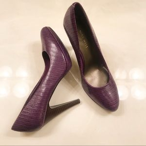Nine West Purple Pointed Toe Heels Size 6.5